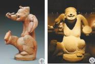 博物馆里笑意盈盈的人物陶俑