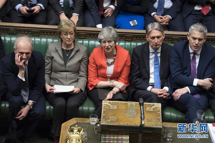 """(国际)(3)英国议会下院再次否决""""脱欧""""协议"""