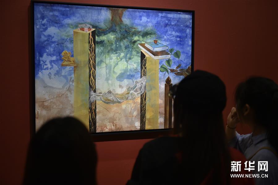"""(文化)(2)""""亚洲文明联展(艺术展):大道融通——亚洲艺术作品展""""在中国美术馆开幕"""
