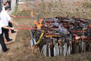全國154個城市開展集中銷毀非法槍爆物品活動